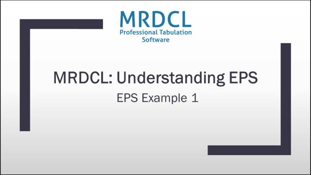 EPS Example 1