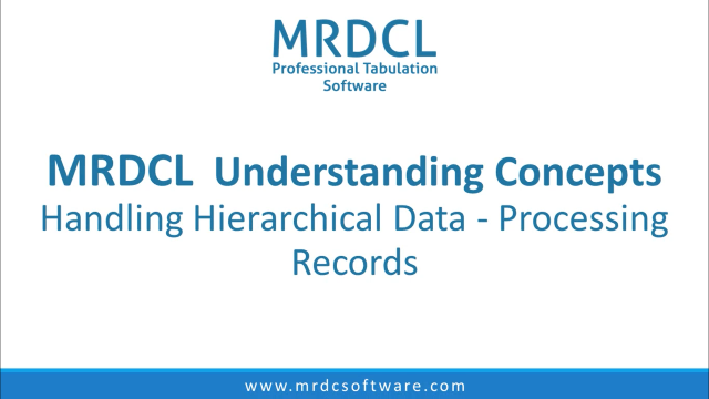 Handling hierarchical data-Processing records