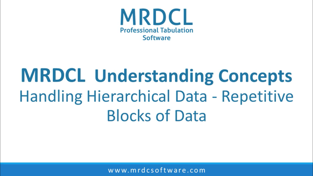 Handling hierarchical data-repetitive blocks of data