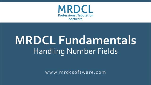 Handling number fields