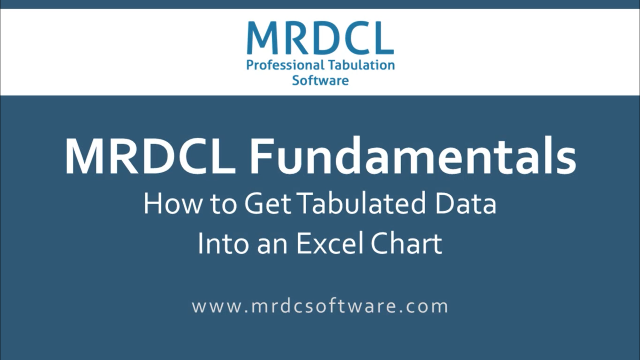 How to get tabulated data into excel chart