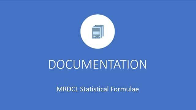 Statistical formulae