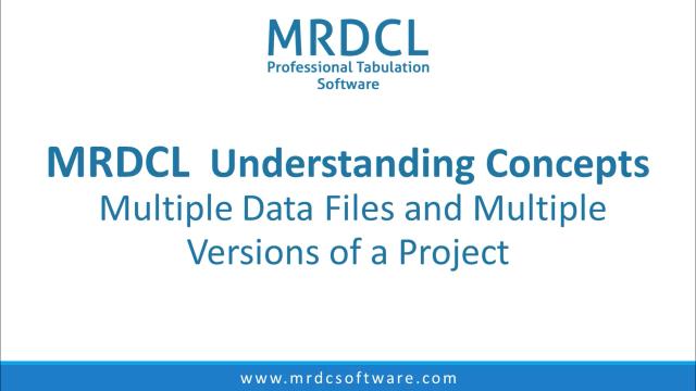 Multiple data files
