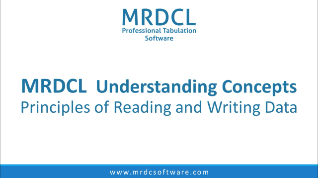 Reading and writing data