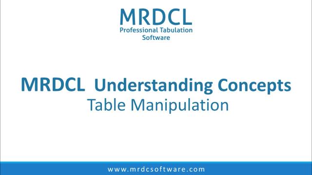 Table Manipulation