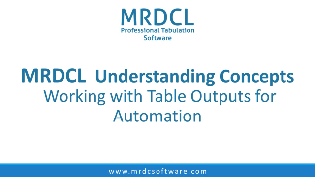 Working with table outputs for automation