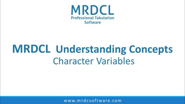 character variables