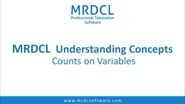 counts on variables