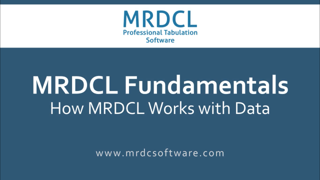 How mrdcl works with data