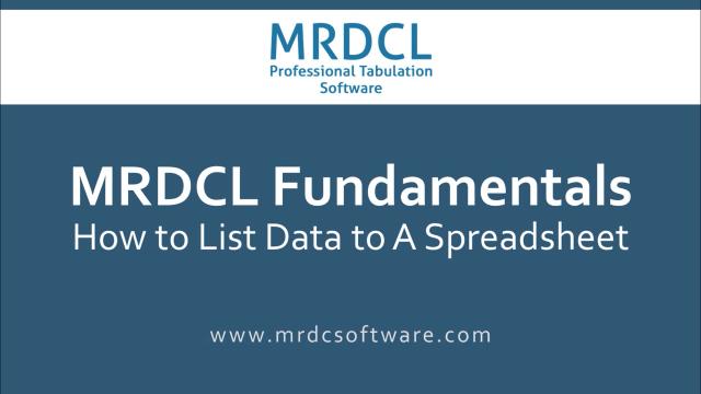 list data to a spreadsheet