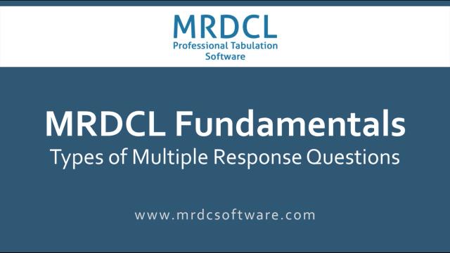 multi response questions
