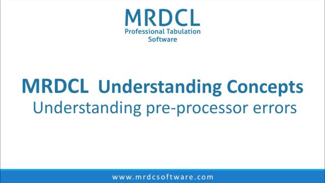 preprocessor errors