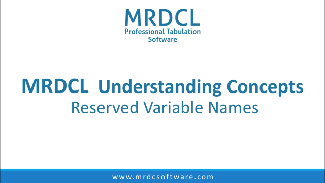 reserved variable names