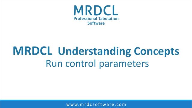 run control parameters
