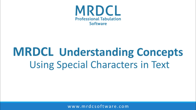 using special characters in text